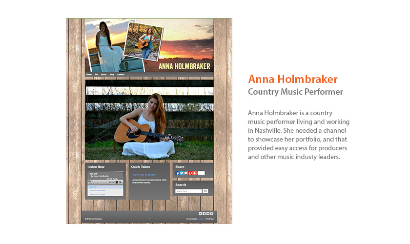 Anna Holmbraker Website by Mango Ibis