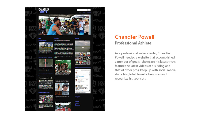 Chandler Powell Website by Mango Ibis
